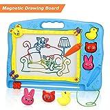 Lenbest Große Tierisches Thema Magnetische Maltafel Zaubertafeln mit 3 Carton Magnetische Stempel, Pädagogische Magnettafel Löschbar Spielzeug für Kinder