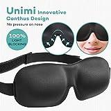 Premium Schlafmaske, UNIMI 3D Augenmaske schlafen bequem und weich. Augenmaske für Damen Und Herren mit Gummiband für einen tiefen und erholsamen Schlaf Komplett Dunkelheit gegen Licht