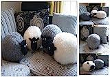 PREMIUM Kuschelkissen Plüschtier - Schaf (Weiß)