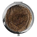 metALUm Premium - Taschen - Spiegel aus verchromten Metall mit tollem Baum Motiv und edler, hochglänzender Kunstharzbeschichtung - ein tolles Accessoire für jede Frau oder als besonderes Geschenk
