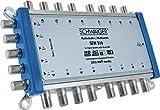 SCHWAIGER -5224- Multischalter 5 - 16 / Verteilt 1 SAT-Signal auf 16 Teilnehmer / SAT-Verteiler / SAT-Splitter mit Netzteil / digital Multiswitch für Signal-Verteilung / in Kombination mit einem Quattro LNB / SAT-Anlage / Satelliten-Schüssel / HD-TV / 3D / DVB-T2 / Satelliten-Receiver