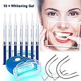 Teeth Whitening Kit Bleaching Gel - Zahnaufhellung - für Weisse Zähne Bleaching Zähne Zu Hause Professionelle Zahnaufhellung Set Zahnweiß-Bleichsystem,10x Teeth Whitening 2x Dental Trays Gel
