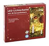 Idena LED Kerzenlichterkette, 30er, für innen, warm weiß, 38192