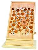 Kletterpfad / Geschicklichkeitsspiel aus Holz mit bunt eingezeichneten Pfaden, Motorikspielzeug kann auf jeder Tischplatte platziert werden