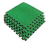 ASC Kunstrasen Fliesen–Eva Fliesen mit Astroturf Stil, die–Fußball Zimmer–Putting Green etc.–4Stück–9ft SQ
