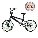 Ridgeyard 6 Gang bmx fahrrad 20 zoll freestyle 360° Rotor-System,Freestyle 4 Pegs BMX bike (Schwarz + Grün)