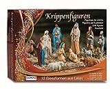 GLOREX Latex Krippenfiguren Set, Andere, Mehrfarbig, 31 x 22 x 6,5 cm