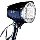 SUNSPEED Scheinwerfer/Fahrradlicht/Fahrradbeleuchtung für Nabendynamo 40 Lux 400 Lumen,Anschluss für Rüchlicht
