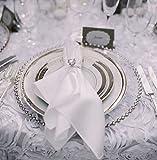 Glas-Platzteller mit silbernem Perlenrand, Weihnachts-/Hochzeits-Deko, 33cm Durchmesser