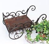 DanDiBo Pflanzkarre HX12596 Schubkarre Karre Blumenkasten Blumenständer Blumenhocker