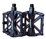 ProHomer Fahrradpedale, Fahrrad Pedalen 9/16 Zoll Achse CNC Aluminium Alu mit Abgedichtete Lager rutschfest, Rennrad Pedale Alu mit Abgedichtete Lager rutschfest, für alle Fahrradttypen