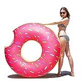 Schwimmring, Samione Aufblasbarer Donut Schwimmring Pool Party Riesen Schwimmring aufblasbar - Rosa