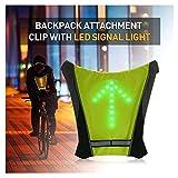 FANCYWING Fahrradrucksack Zubehör W/LED Blinker Licht, Fahrrad Fernbedienung LED Richtungsanzeiger Weste Reflektierend für Radfahren Laufen Gehen Sicherheit bei Nacht Wasserdicht
