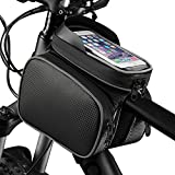 Yahee Fahrradtasche Fahrradrahmen Tasche Wasserfest Touchscreen bis 5,5 Zoll für Radsport schwarz