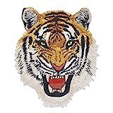 YNuth Aufbügler Aufnäher Leopard Wolf Löwe Tiger Farbig Stickereien Patch Applikation