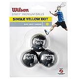 Wilson Staff 1 Squash Bälle gelb gepunktet, 3 Stück