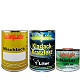 2,5 Liter Set Autolack Klarlack Härter Wunschfarbe