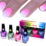 4x farben Thermo Effekt Nagellack Farbwechsel Color Changing Nail Polish WoW!