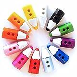 12 Kinderknöpfe - Motiv: Buntstifte - Farbe: Farbmix - 7x20mm - Material: Kunstharz (Resin) - Knöpfe Puppenknöpfe Scrapbooking