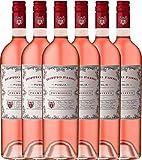 6er Paket - Doppio Passo Rosato IGT Puglia - CVCB | halbtrockener Roséwein | italienischer Sommerwein aus Apulien | 6 x 0,75 Liter