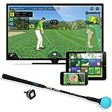 PhiGolf Unisex Mobile und Home Smart Golf Game Simulator mit Swing Stick, schwarz