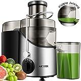 Aicook Entsafter, 65mm Zentrifugaler Entsafter mit großer Einfüllöffnung, aus rostfreiem Edelstahl, BPA-frei, mit rutschfesten Gummifüßen, drei Geschwindigkeitsstufen für Früchte und Gemüse