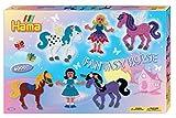 Hama 3033 - Geschenkpackung Fantasy Horse, ca. 6000 Bügelperlen und zwei Stiftplatten