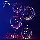 Helium Ballons, LEEHUR 4 Stück Helium Balloon Gas Leucht Luftballon Weiss Zuhause Dekoration Zum Party Hochzeit Weihnachten Festival