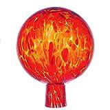 MAROLIN Rosenkugel für den Garten/Gartenkugel (15cm Durchmesser   orange)