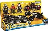 Imaginext Fisher Price - DC Super Freunde dc super Freunde Geschenk Set- Beinhaltet Batman, Robin & Bane Minifiguren, 3 Fahrzeuge und Zubehör