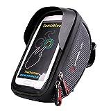 Fahrrad Rahmentaschen, EletecPro Fahrradtaschen Handyhalter Wasserdichte Fahrradlenkertasche für iPhone 7 Plus/6s /6 Plus/Samsung s7/ Galaxy s7 edge andere bis zu 6 Zoll Smartphone(TPU Touchschirm)
