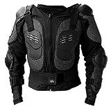 PREMIUM Protektorenjacke Brustpanzer Rückenprotektor (Größe XL) Schutzausrüstung für Fahrrad Bike Quad Motocross Motorsport - Protektor Protektoren Motorrad Jacke Motorradjacke