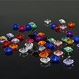 1000 Stück Deko Diamanten Dekosteine 10mm funkelnde Kristall Glitzersteine Streudeko Hochzeit Tisch Dekoration Vasen Füller Blumen DIY Basteln (bunt)