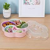 CJUERLS Geschirr Kreative Bunte Quadratische Pflaumen-Art- Und Weisefrucht-Platten-Süßigkeit-Platten-Wohnzimmer-Imbiß-Plastikkorb-Trockenfrucht-Platzierung