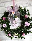 Buchsbaum Türkranz Blüten & Schnecken in rosa Shabby chic romantisch in 3Größen