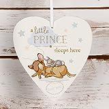 Disney Cœur plaque Petit Prince dort ici bébé garçon Cadeau