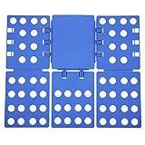 Songmics 3. Generation einstellbar Wäsche Faltbrett Falthilfe A4 Flip & Fold Kunststoff 57 x 68 cm blau LCF003