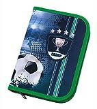 Scooli FCPR0440 Schüleretui Football Cup mit Stabilo, Markenfüllung, 30 teilig, blau