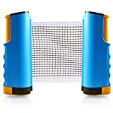 Joy.J Tischtennisnetz, Tischtennis Netze Einziehbares, Ping Pong Ersatznetz Justierbarer, für alle Tischtennisplatten Einstellbare Länge 170(Max) x 14,5cm