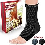 Vigo Sports 7-Zonen Fußbandage (2 Stück) – Kompressionssocken für effektive Schmerzlinderung auch bei Fersensporn & Bänderriss –Sprunggelenk Bandage für Stabilität an Knöchel & Mittelfuß (L)
