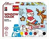 Marabu 306000000003 Kids Window Color Christmas 6 x 25 ml, bunt
