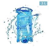 TRIWONDER 1.5-2-3L BPA Free Trinkblase Wasserreservoir für Radfahren Wandern Camping Rucksack (3L / 100oz)