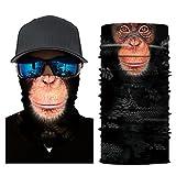 Scallop Multifunktionstuch Bandana Halstuch Nickituch Stirnband Sturmhaube mit Tiermustern zum Ski Radfahren Sonnenschutz Gesichtsmaske Schal Nackenwärmer