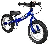 BIKESTAR Kinder Laufrad Lauflernrad Kinderrad für Jungen und Mädchen ab 3 - 4 Jahre  12 Zoll Sport Kinderlaufrad  Schwarz (matt)