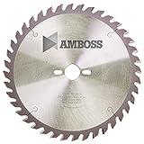 Amboss - HM Tischkreissägeblatt für Holz - Ø 254 mm x 2,8 mm x 30 mm | Geeignet für Bosch GTS 10 oder Metabo TS254 | Wechselzahn (40 Zähne)