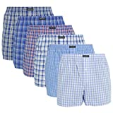 Lower East 6er Pack Herren American Boxershorts, Gr. Large, Mehrfarbig Business)