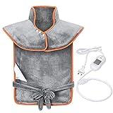 OMORC Heizkissen für Nacken, Schulter und Rücken Wärmekissen mit 3 Temperaturstufen schneller Heiztechnologie und 90 Min Abschaltautomatik Maschinenwaschbar ca. 65 x 85 cm