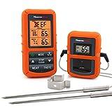 ThermoPro Digitales Funk-Grill-Bratenthermometer Grillthermometer Ofenthermometer BBQ Wireless Thermometer mit 2 Temperaturfühlern für BBQ, Ofen und Grills usw.