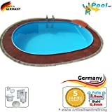 Ovalbecken 4,50 x 3,00 x 1,50 m Stahlwandpool Schwimmbecken Ovalpool 4,5 x 3,0 x 1,5 Swimmingpool Stahlwandbecken Fertigpool oval Pool Einbaupool Pools Gartenpool Poolbecken Einbaubecken Set
