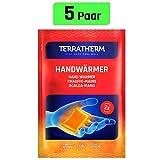 TerraTherm Handwärmer, Taschenwärmer für 12h warme Hände, Wärmepads Hand durch Luft aktiviert, 100% natürliche Wärme, Fingerwärmer; 5 Paar